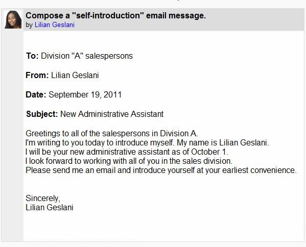 Business writing email sample – Sample Business Email