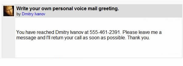 Recording personal voice mail greetings activity 1 m4hsunfo Image collections